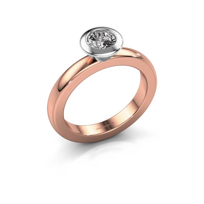 Stapelring Trudy Round 585 rosé goud diamant 0.50 crt