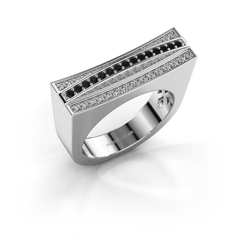 Ring Erma 925 silver black diamond 0.36 crt