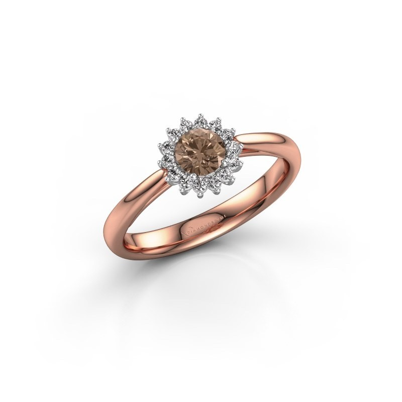 Engagement ring Tilly RND 1 585 rose gold brown diamond 0.30 crt