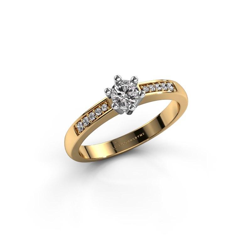 Verlovingsring Luna 2 585 goud diamant 0.25 crt