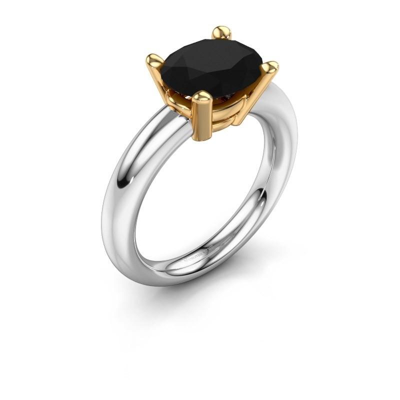Ring Janiece 585 white gold black diamond 3.24 crt