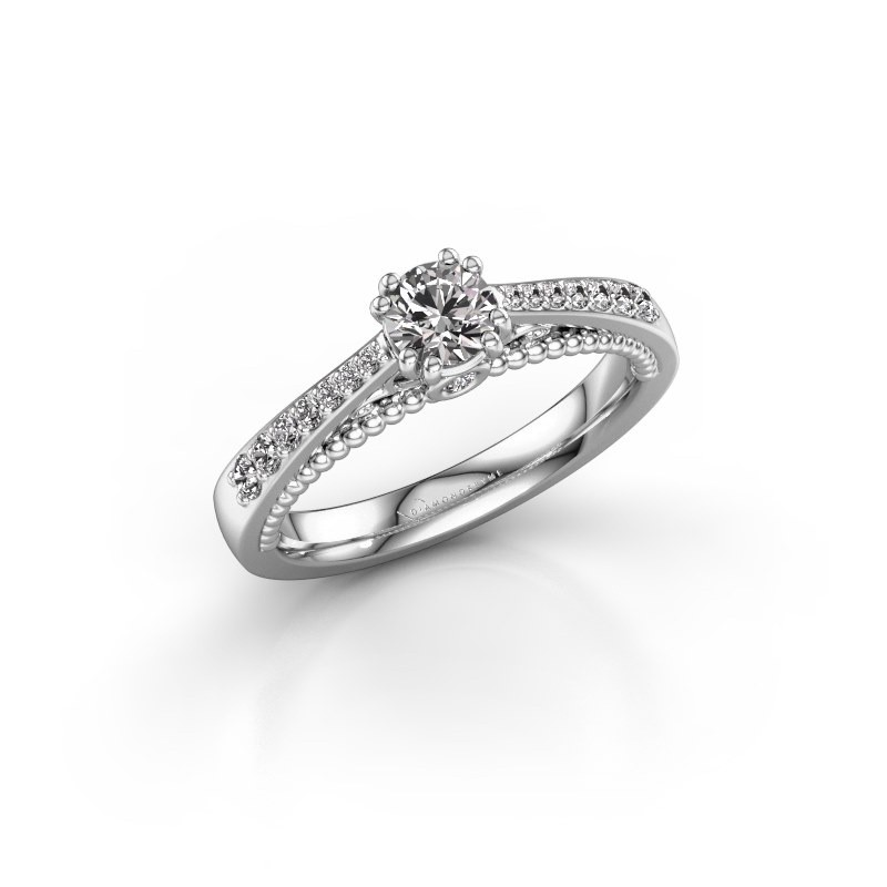 Verlovingsring Rozella 585 witgoud diamant 0.518 crt