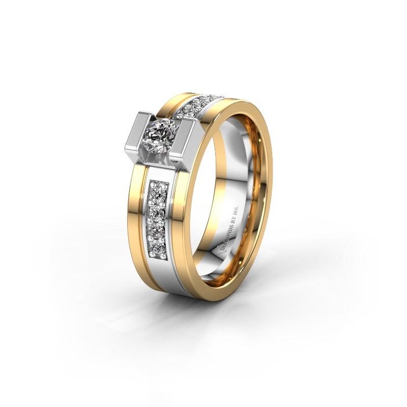 Ehering WH2092L16BP 585 Weißgold Diamant ±6,5x2 mm