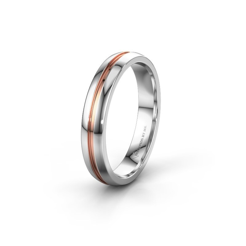 Wedding ring WH0424M24A 585 white gold ±0.16x0.07 in
