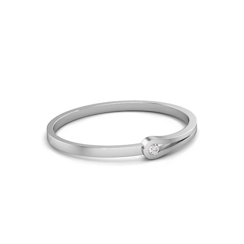 Slavenarmband Kiki 950 platina diamant 0.40 crt