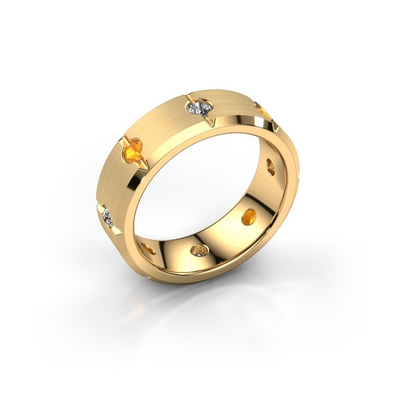 Herren ring Irwin 585 Gold Citrin 2.7 mm
