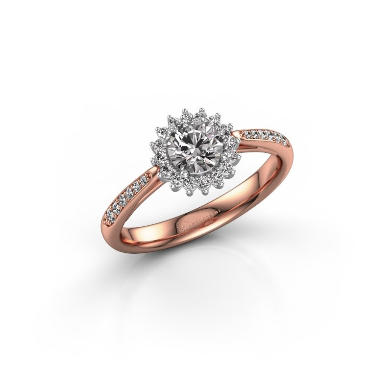 Engagement ring Tilly RND 2 585 rose gold zirconia 5 mm