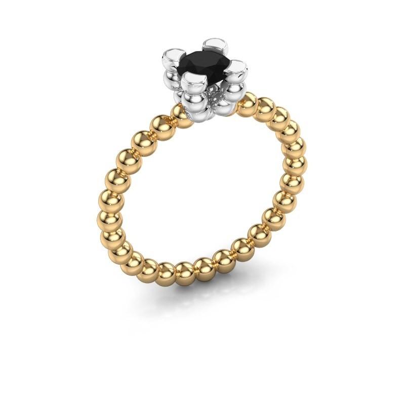 Ring Aurore 585 goud zwarte diamant 0.60 crt
