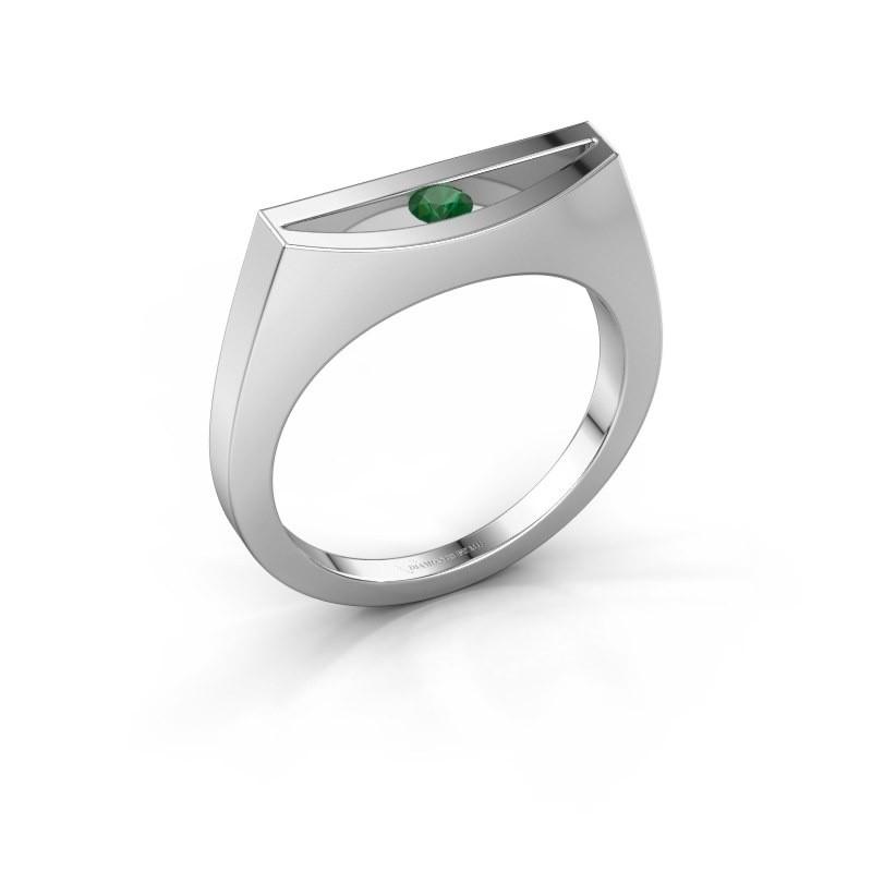 Ring Milou 925 Silber Smaragd 3 mm