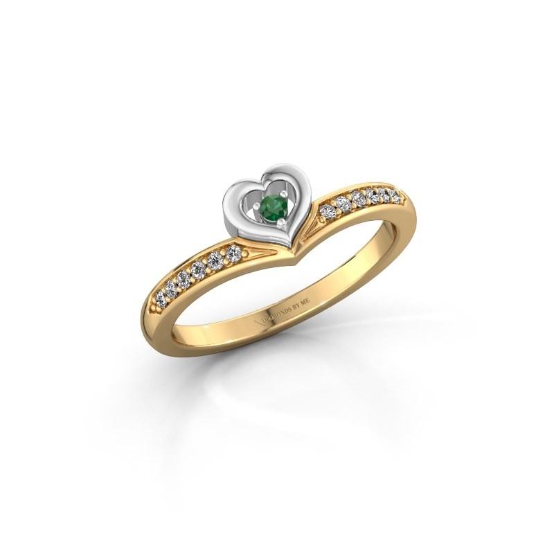 Ring Mimi 585 goud smaragd 2 mm