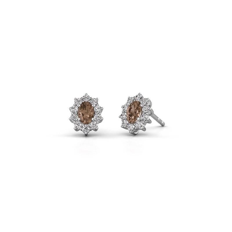 Ohrringe Leesa 585 Weißgold Braun Diamant 1.60 crt