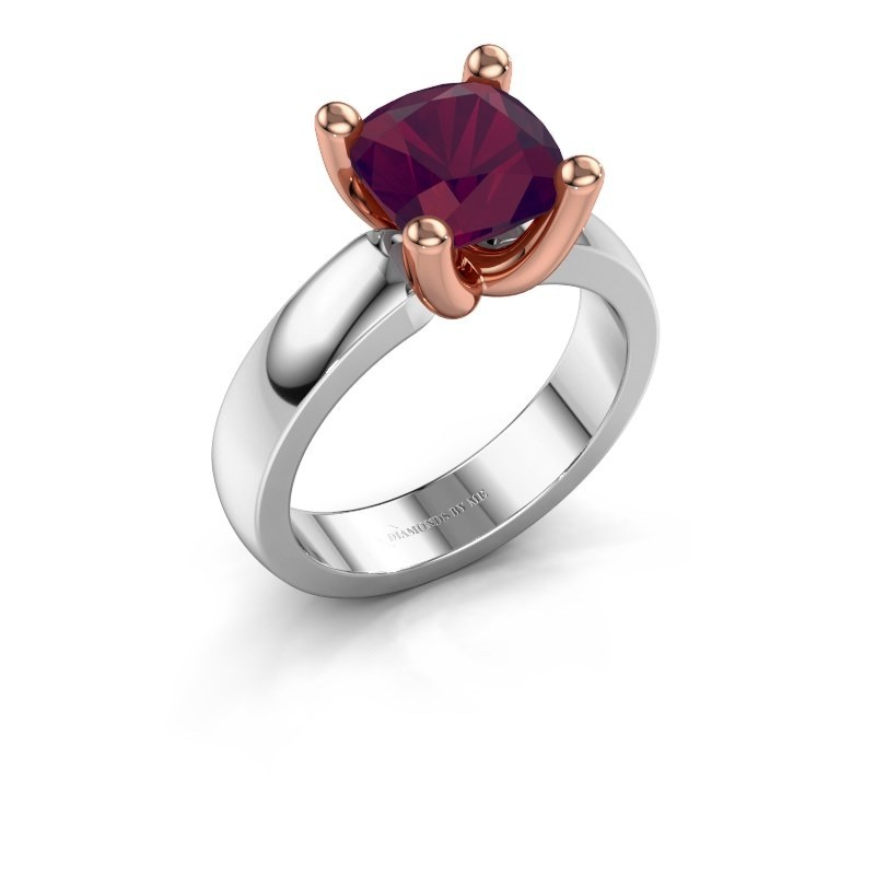 Ring Clelia CUS 585 white gold rhodolite 8 mm