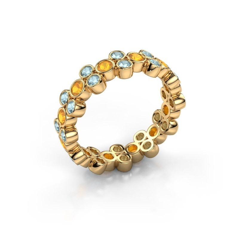 Ring Victoria 375 gold citrin 2.4 mm