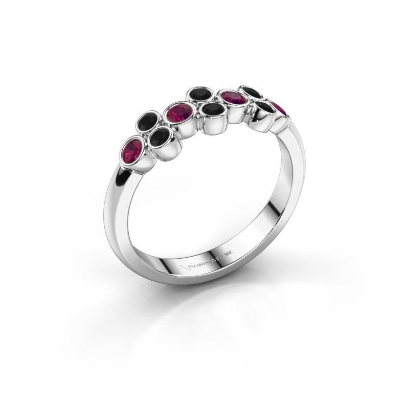Ring Kayleigh 925 silver rhodolite 2.4 mm