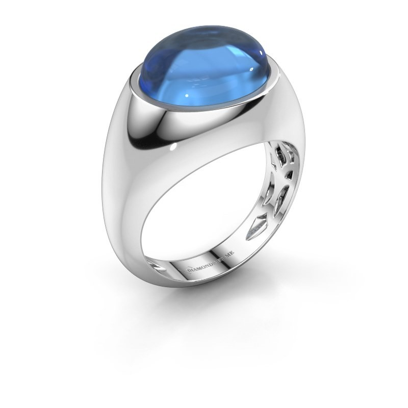 Ring Laurien 925 silver blue topaz 12x10 mm