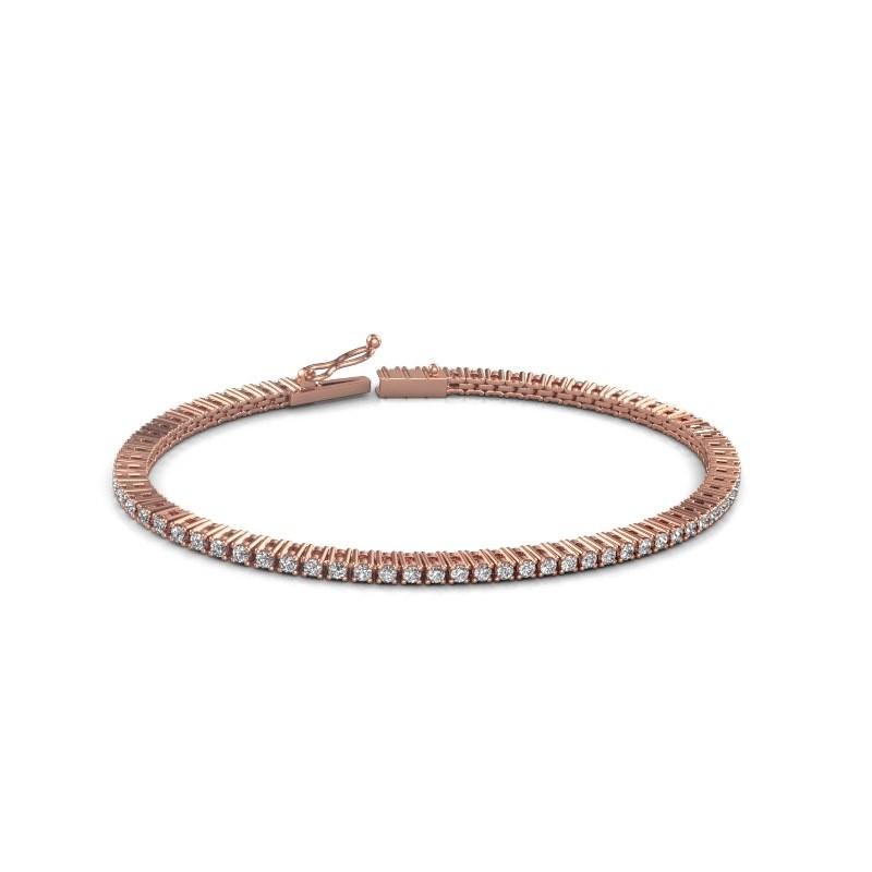 Tennis bracelet Simone 375 rose gold diamond 2.16 crt