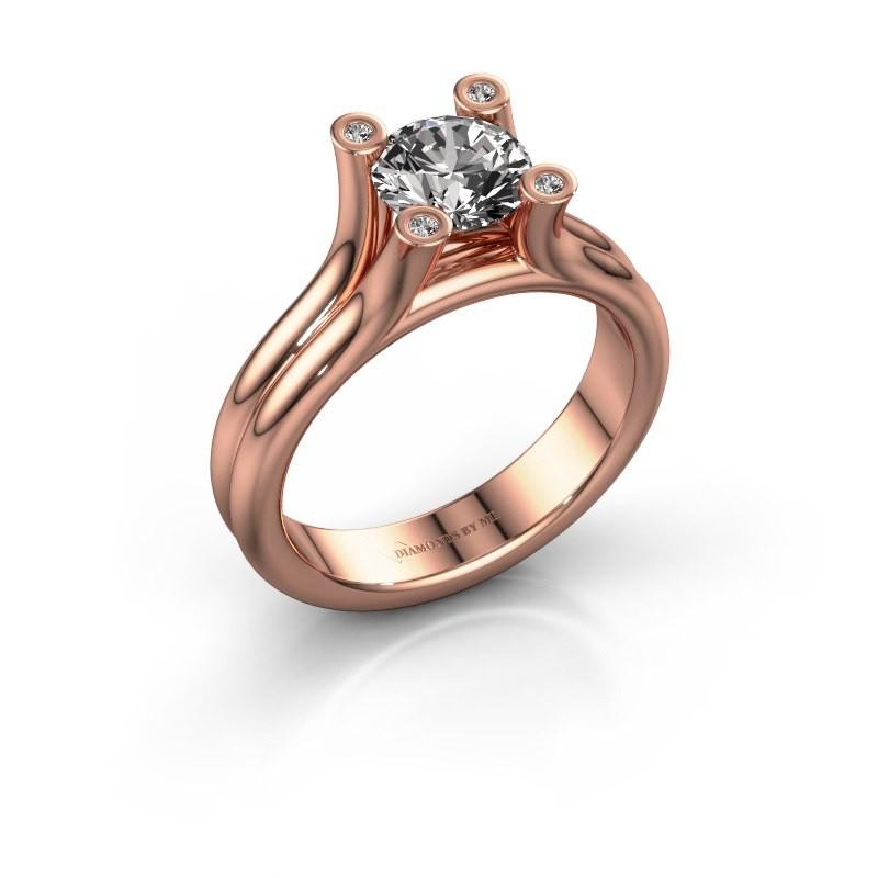 Bague de fiançailles Stefanie 1 375 or rose diamant 1.00 crt