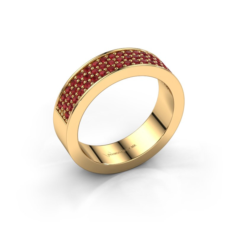 Ring Lindsey 4 585 goud robijn 1.3 mm