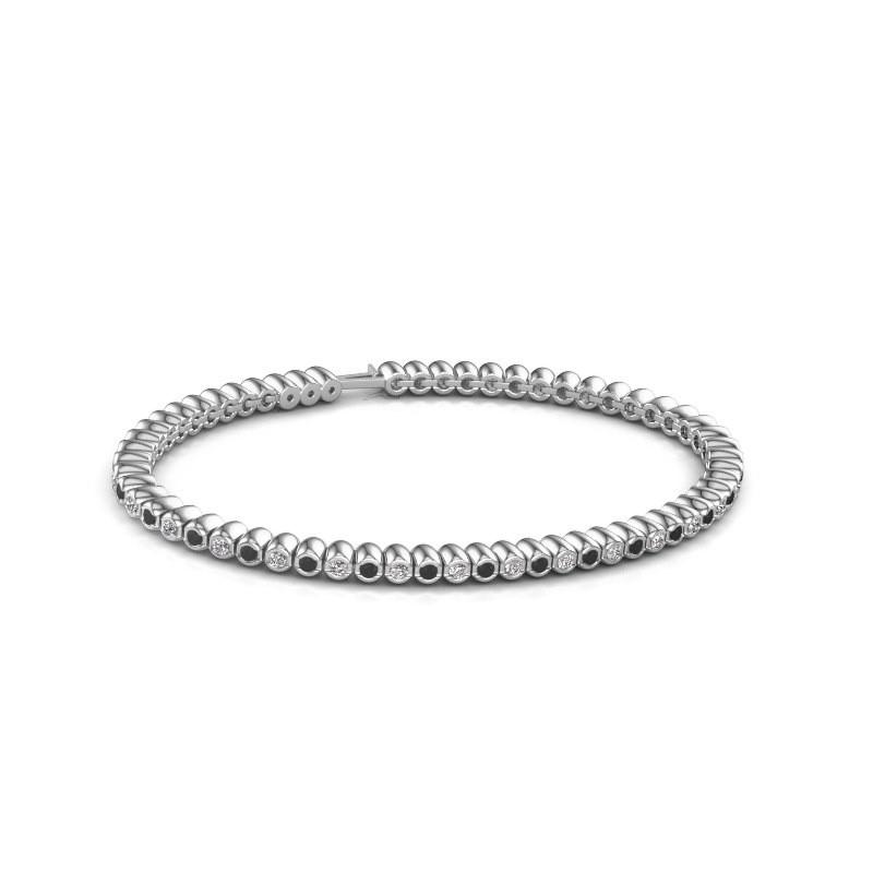 Tennisarmband Trix 585 witgoud zwarte diamant 1.980 crt
