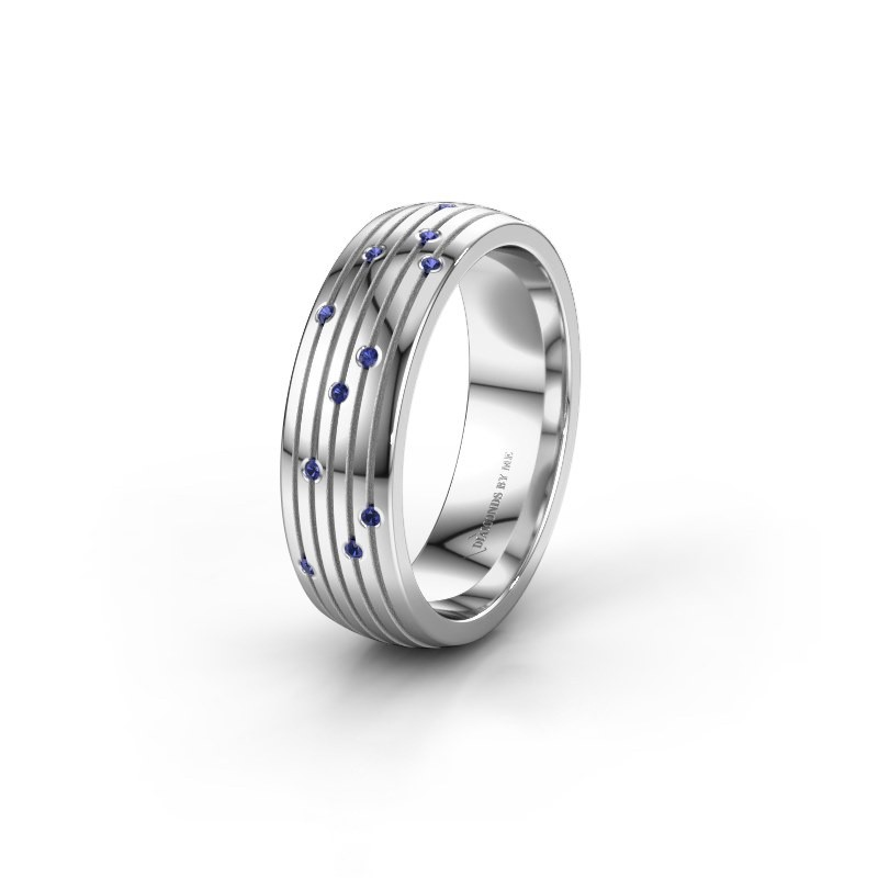 Wedding ring WH0150L26A 925 silver sapphire ±0.24x0.07 in