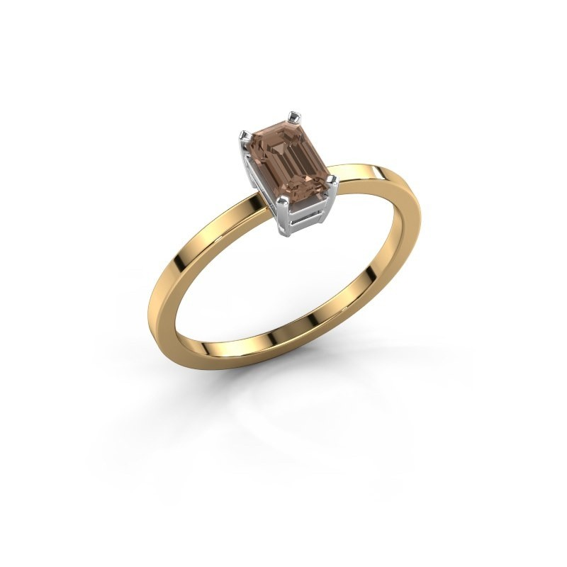 Verlovingsring Denita 1 585 goud bruine diamant 0.70 crt