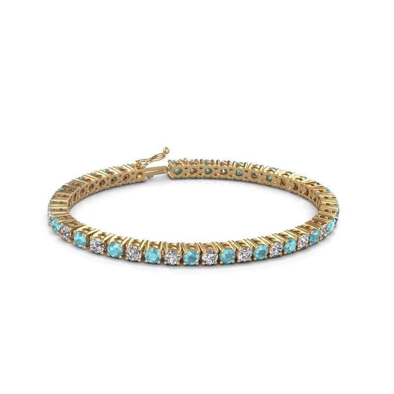 Tennis bracelet Karin 585 gold blue topaz 4 mm