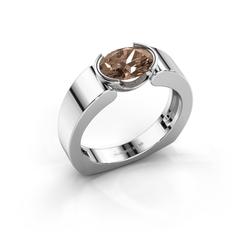 Ring Tonya 950 platina bruine diamant 1.15 crt