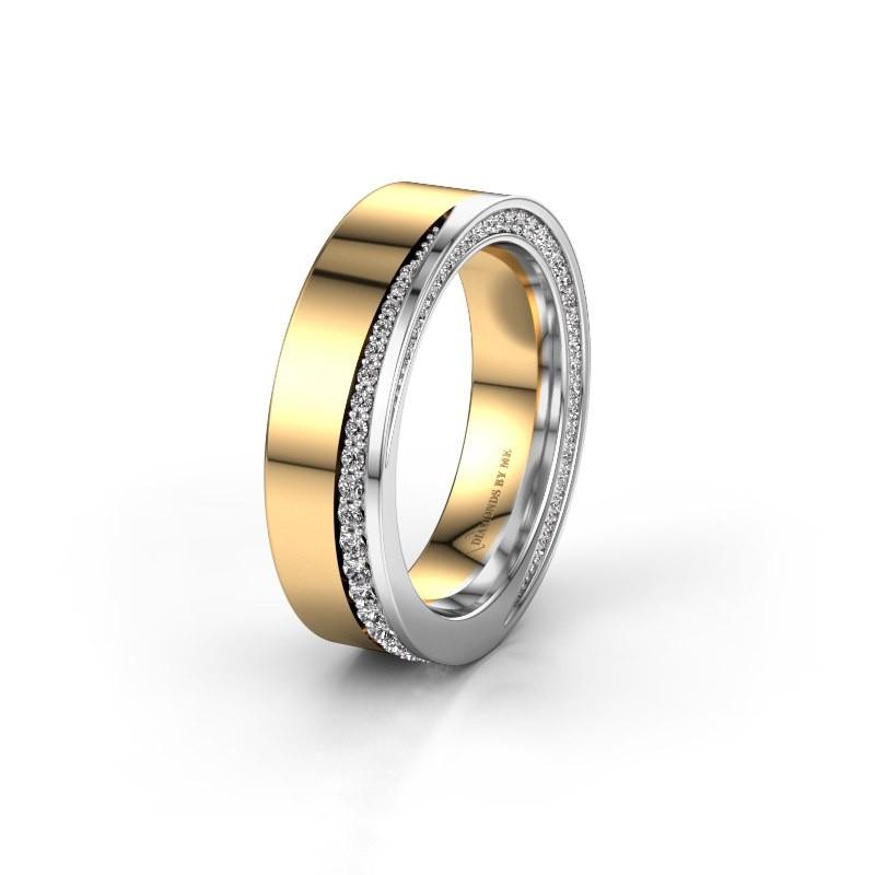 Trouwring WH1002L15DP 585 goud diamant ±6x2.3 mm