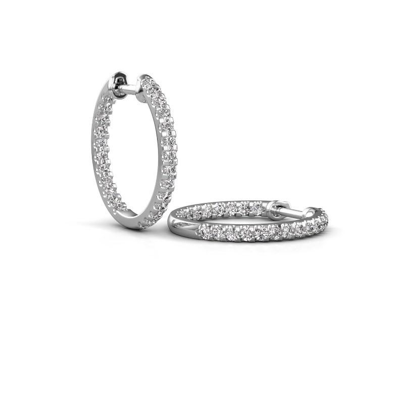 Creolen Jackie 15 mm B 585 witgoud diamant 1.08 crt