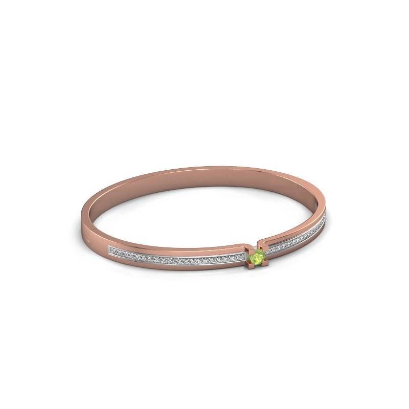 Armband Myrthe 585 rosé goud peridoot 4 mm