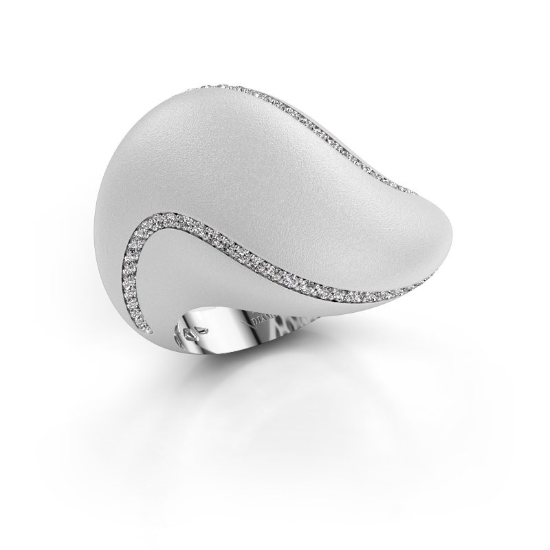 Ring Phyliss 950 platina zirkonia 1 mm