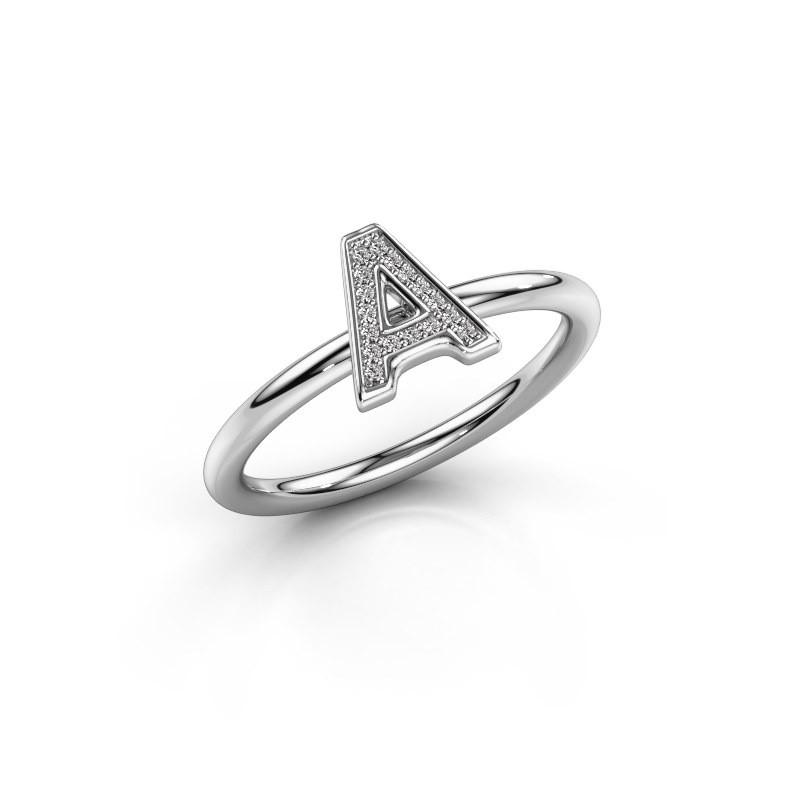 Ring Initial ring 070 375 witgoud