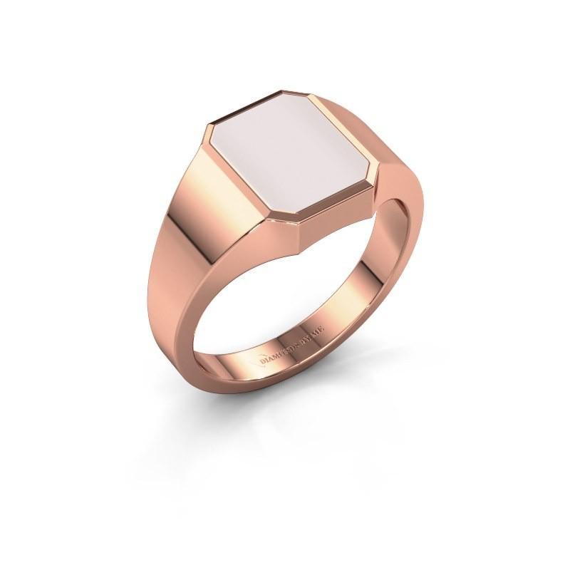 Signet ring Glenn 1 375 rose gold red sardonyx 10x8 mm