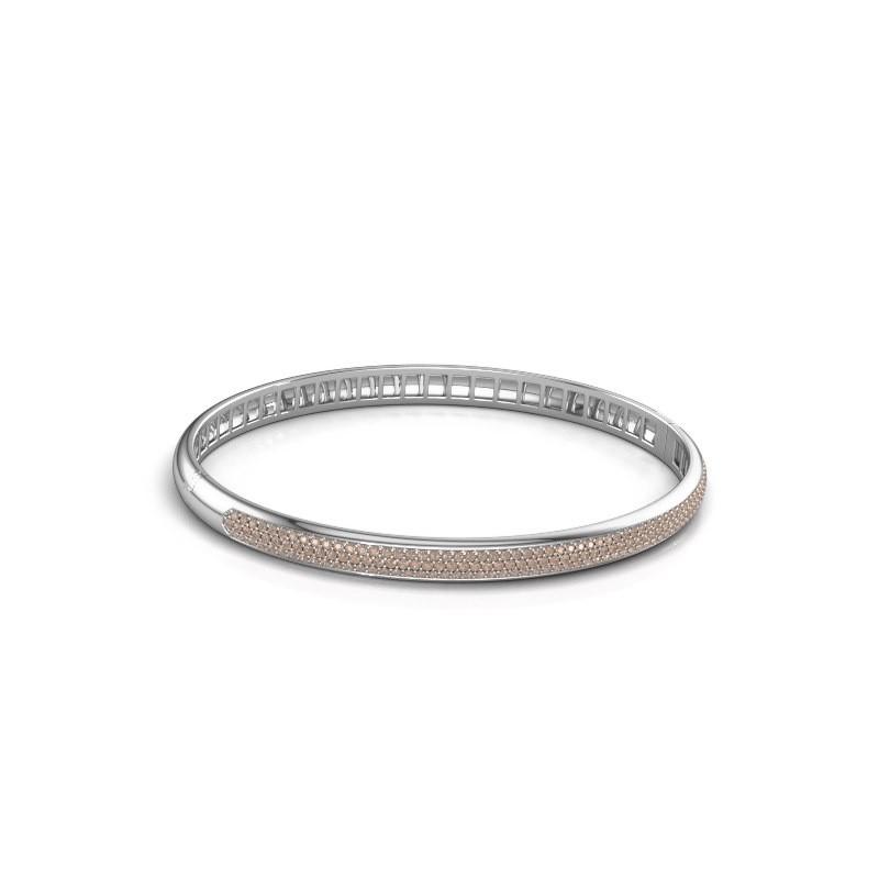 Armband Emely 5mm 585 witgoud bruine diamant 1.178 crt