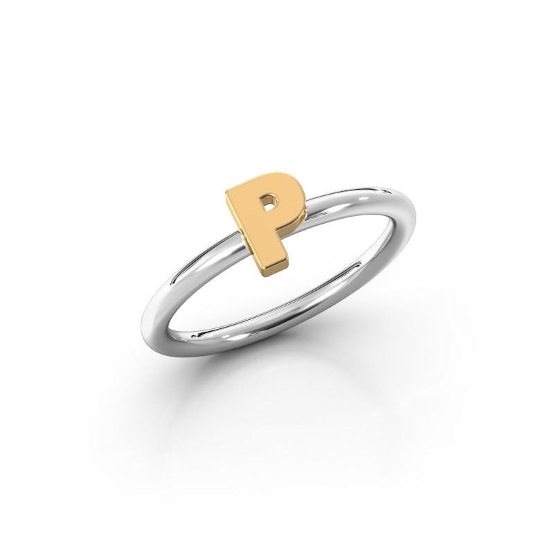 Ring Initial ring 080 585 witgoud