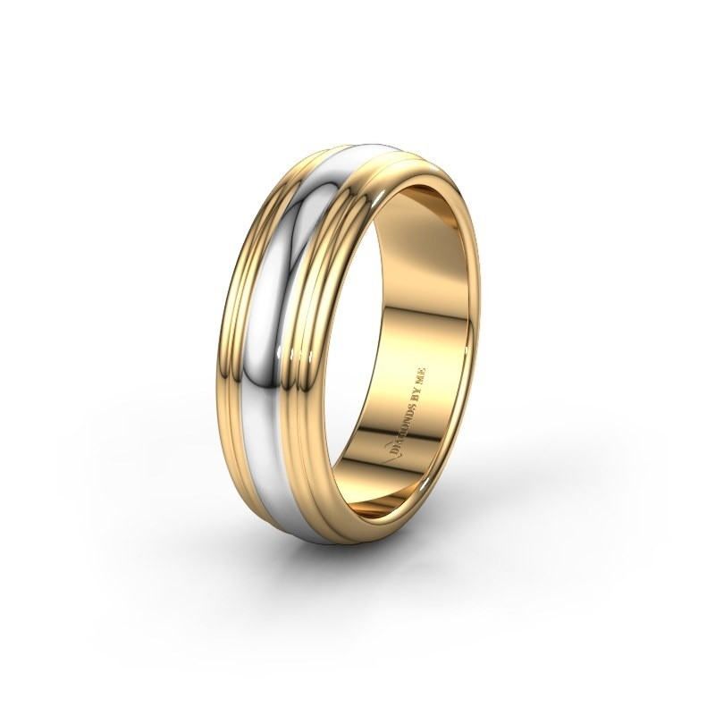 Wedding ring WH2234MN 585 gold ±6x2 mm