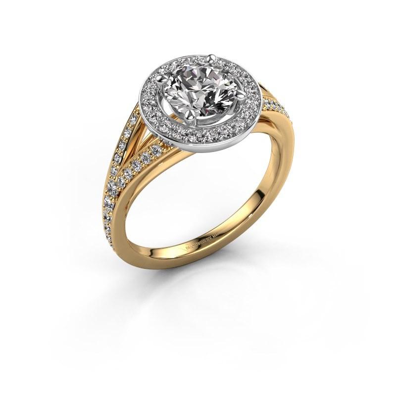 Bague de fiançailles Angelita RND 585 or jaune diamant 1.432 crt