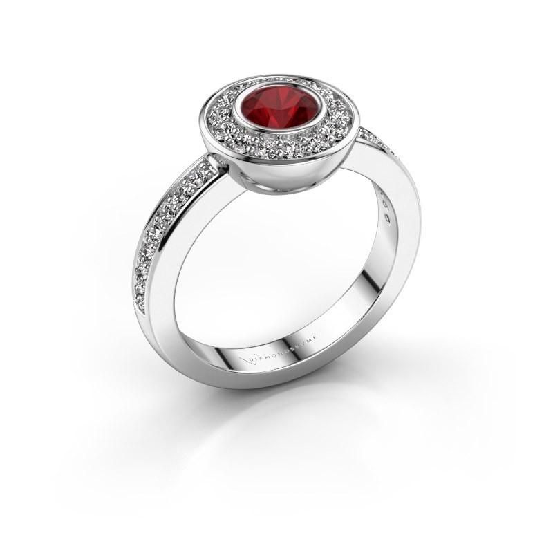Ring Ivy 585 white gold ruby 5 mm