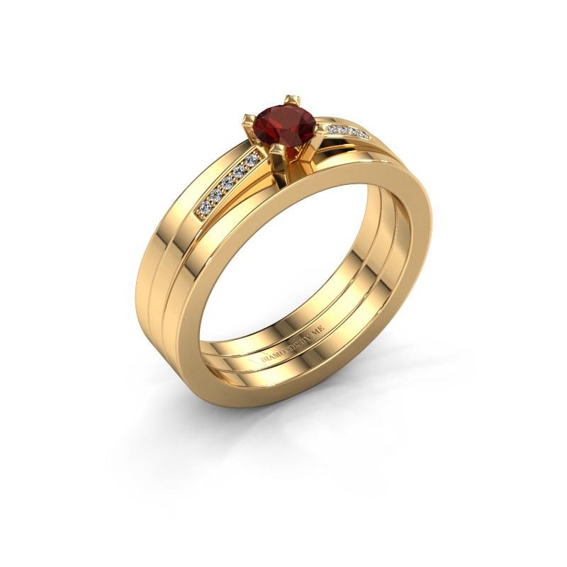 Verlobungsring Celeste 585 Gold Granat 4 mm