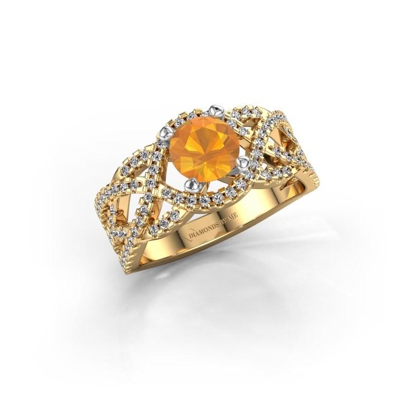Verlovingsring Jeni 585 goud citrien 6.5 mm