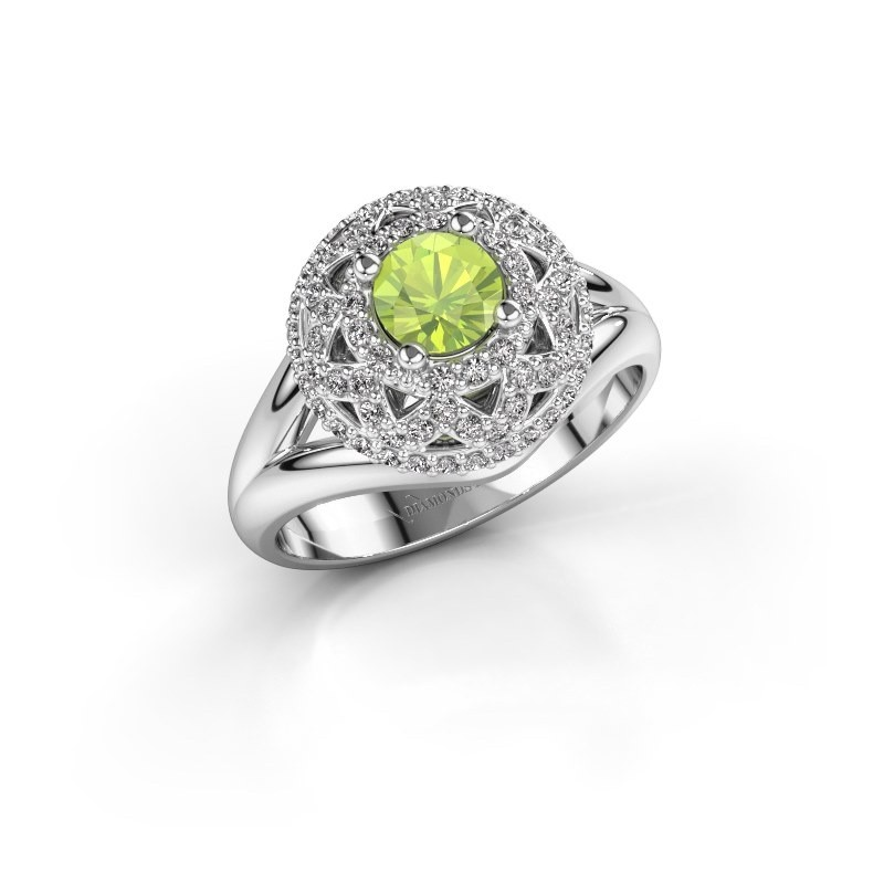 Ring Leonora 925 silver peridot 5 mm
