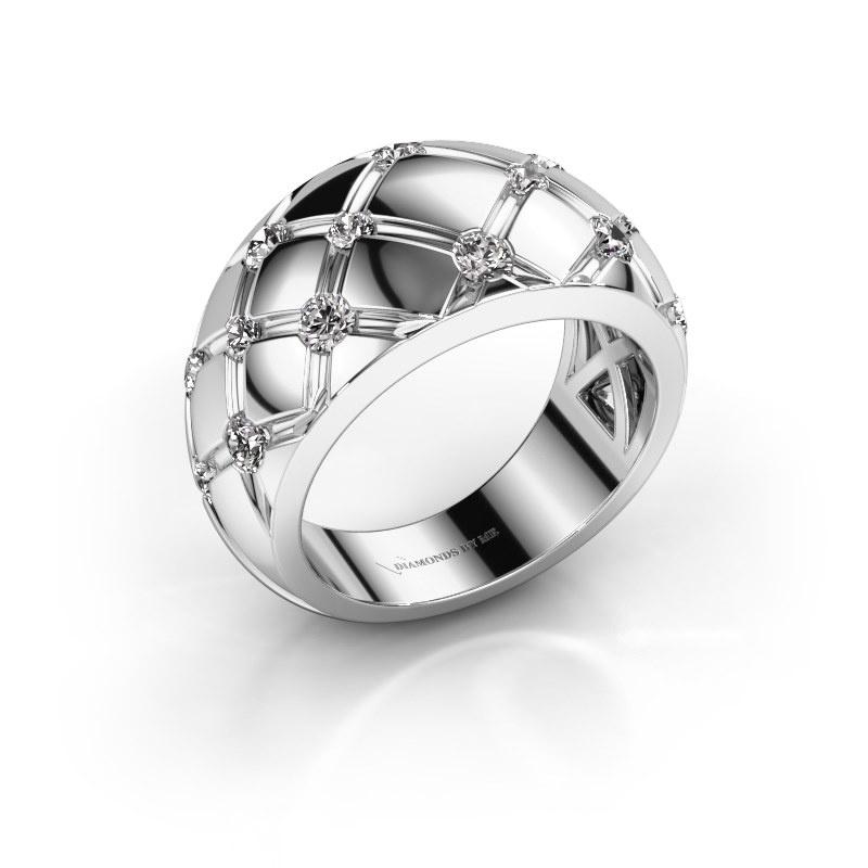 Bague Imke 585 or blanc diamant synthétique 0.78 crt