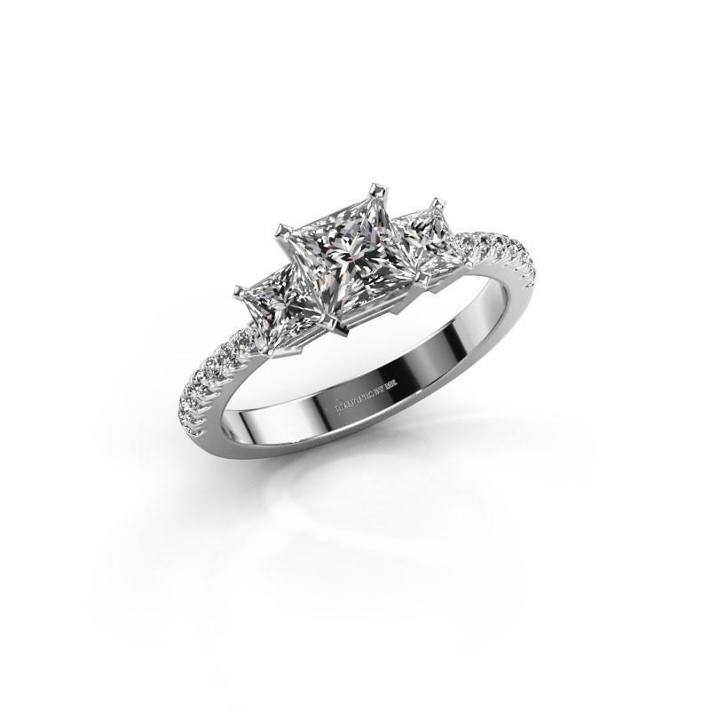 Engagement ring Dorla 585 white gold lab-grown diamond 1.449 crt