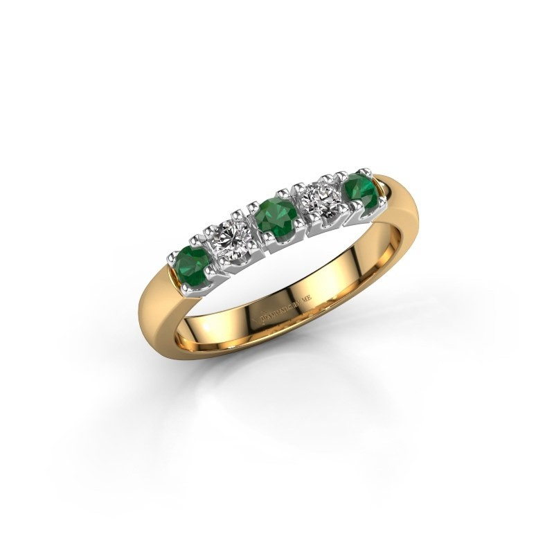 Engagement ring Rianne 5 585 gold emerald 2.7 mm