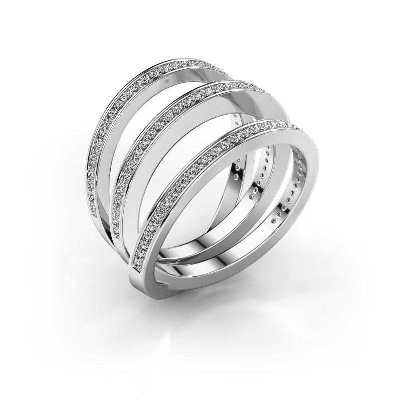 Ring Jaqueline 925 zilver zirkonia 1 mm