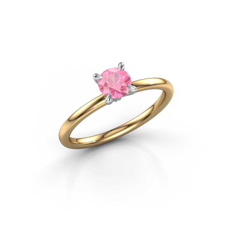 Verlobungsring Crystal RND 1 585 Gold Pink Saphir 5 mm