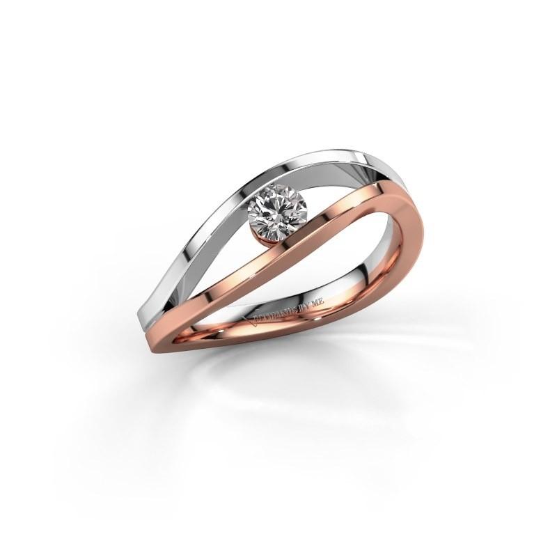 Aanzoeksring Sigrid 1 585 rosé goud lab-grown diamant 0.20 crt