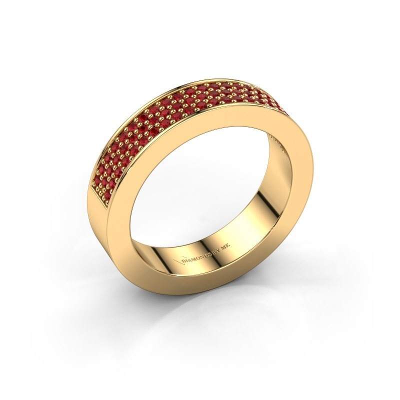Ring Lindsey 2 375 gold ruby 1.1 mm