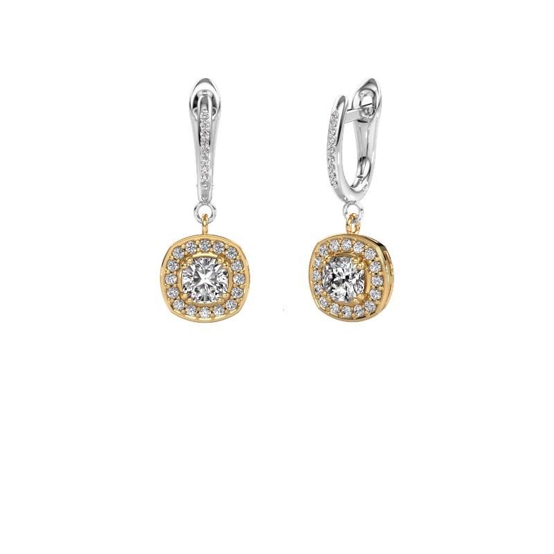 Oorhangers Marlotte 2 585 goud lab-grown diamant 1.365 crt
