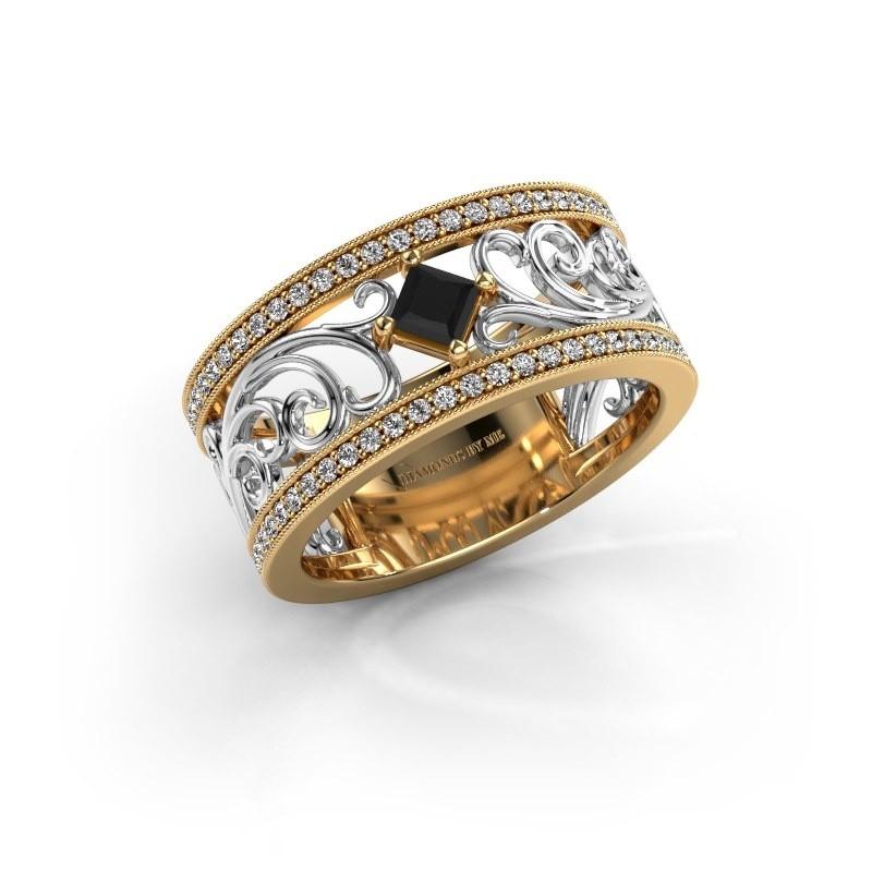 Ring Danae 585 gold black diamond 0.614 crt